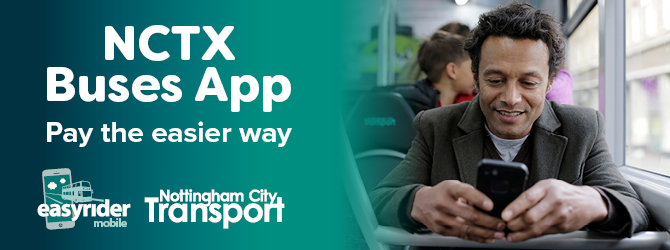 Nottingham City Transport bus app
