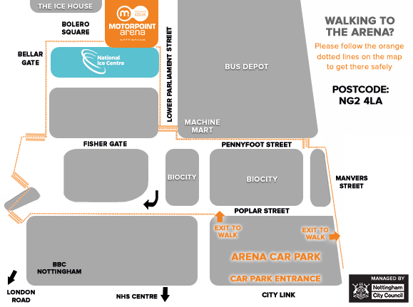 Purchase a ticket for our new hassle-free car park and enjoy parking within just a few minutes' walk of the Arena!