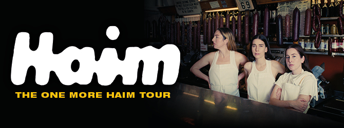 HAIM at the Motorpoint Arena Nottingham on Saturday 19 June 2021