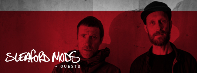Sleaford Mods at the Motorpoint Arena Nottingham on Saturday 27 November 2021