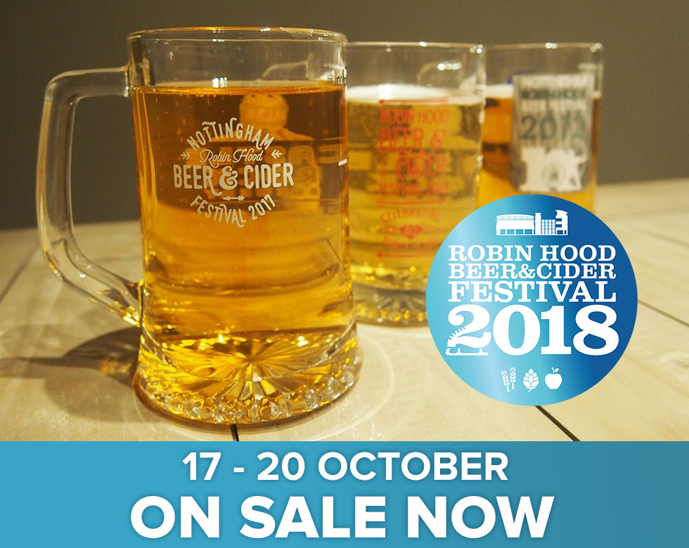 Beer Festival on 17- 20 October 2018 at the Motorpoint Arena Nottingham