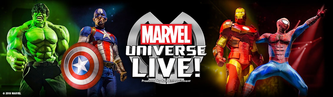 Marvel Universe Live at the Motorpoint Arena Nottingham on 18-22 September 2019