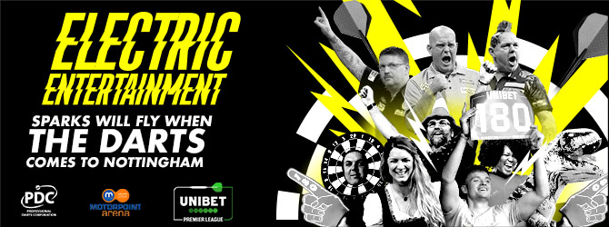 Unibet Premier League Darts at the Motorpoint Arena Nottingham on 13 February 2020