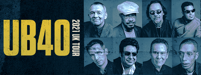 UB40 at the Motorpoint Arena Nottingham on Saturday 19 December 2020
