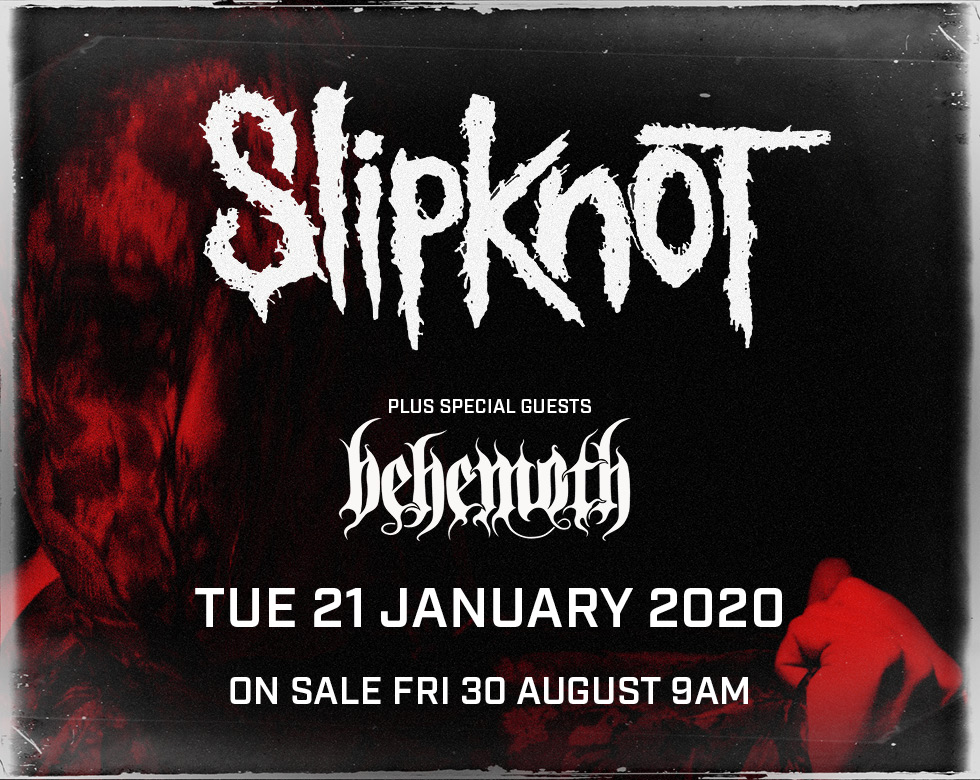 Slipknot Plus Special Guests Behemoth at the Motorpoint Arena Nottingham on 21 January 2020